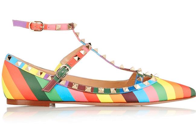 Valentino Rockstuds Modepilot Schuhe Regenbogen