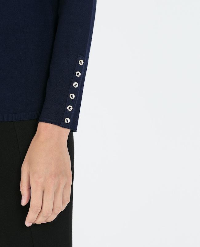 Zara Pullover viele Knöpfe an den Ärneln Modepilot