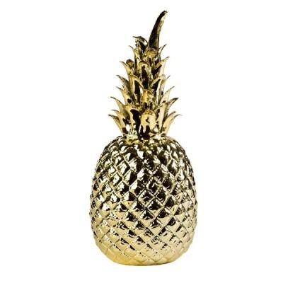 ananas dekoration gold