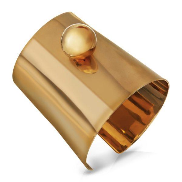 """Armreif """"Boule"""", vergoldet, circa 950 Euro"""