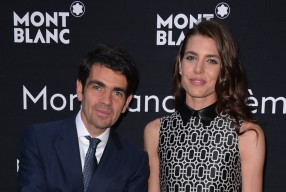 Montblanc CEO Jerome Lambert and Charlotte Casiraghi