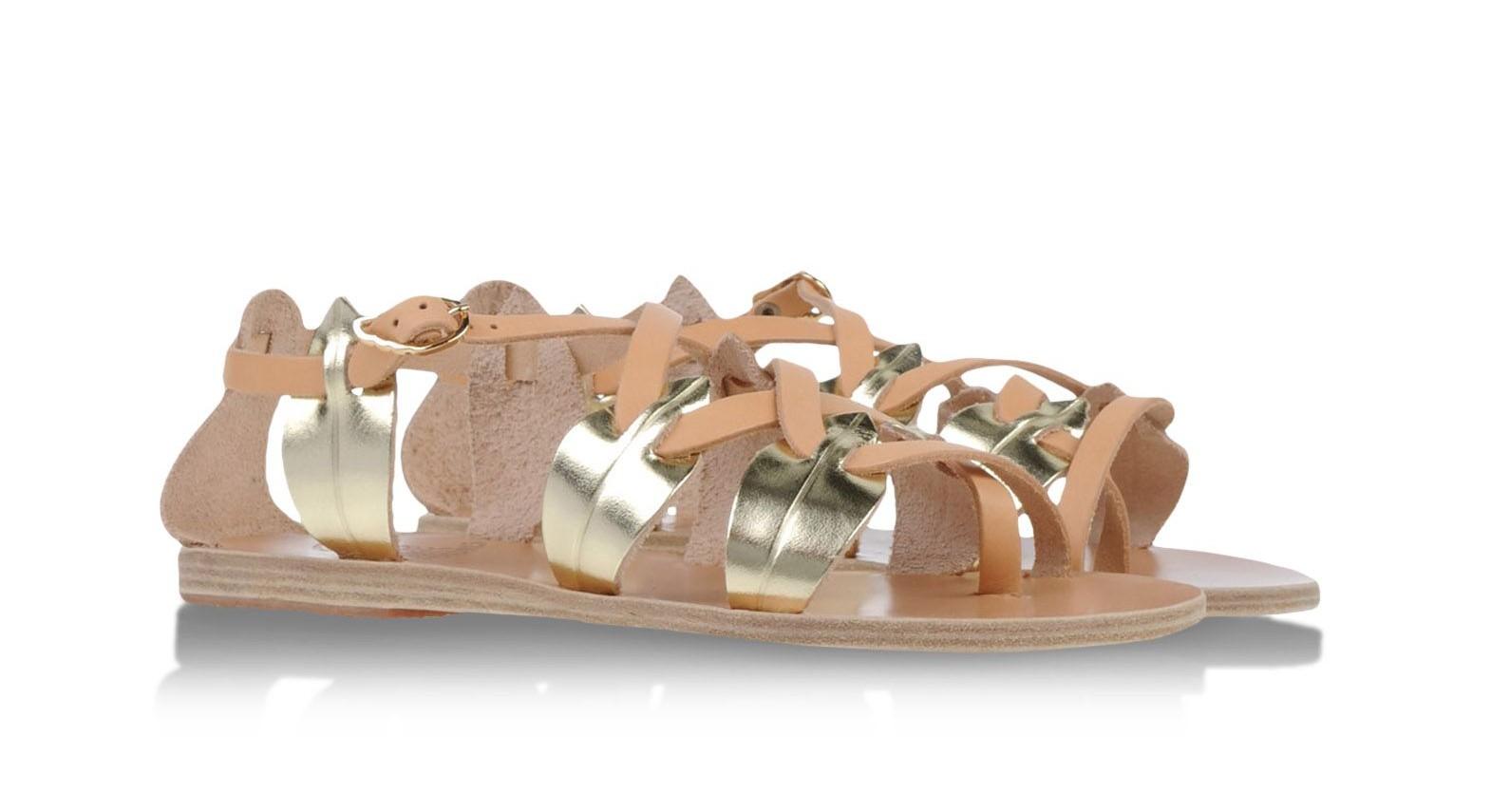 ancient greek sandals sommersandalen gold