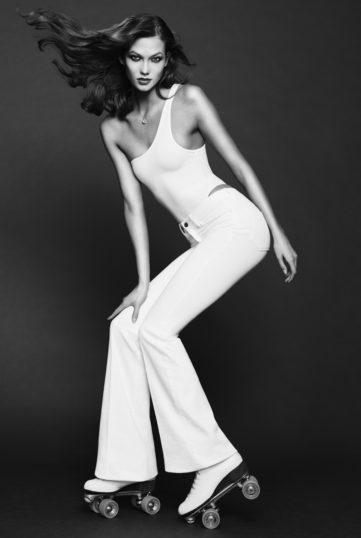 FRAME Denim Karlie Kloss Flare Jeans White Modepilot