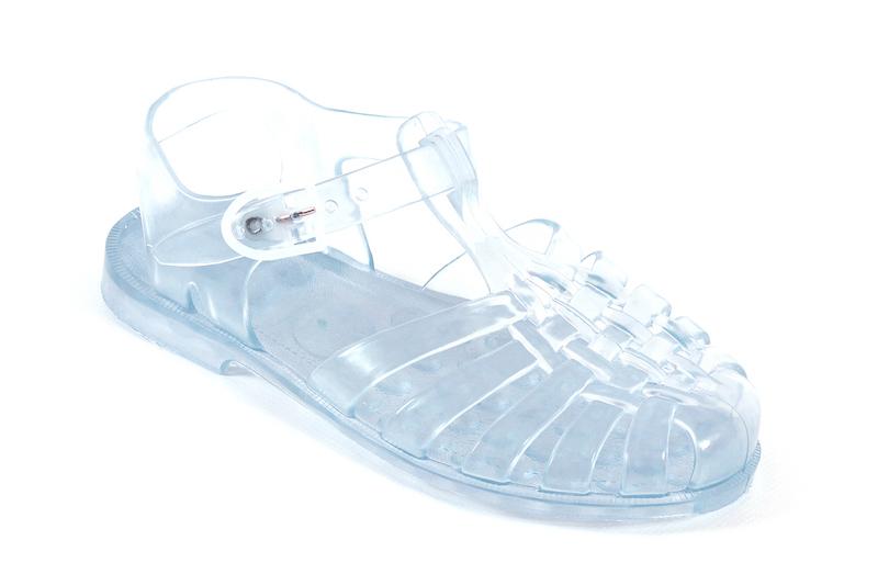 Sandalen Plastik Durchsichtig Meer Wasser wasserfest Modepilot