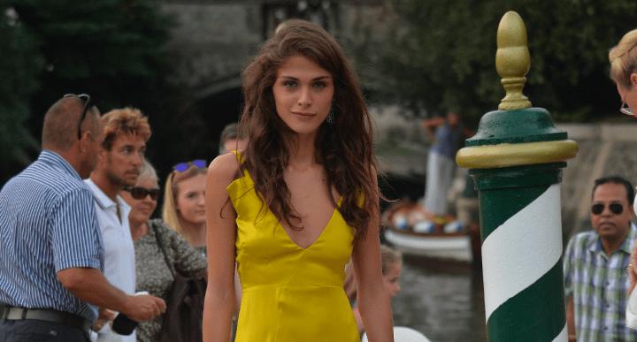 Elisa Sednaoui Jil Sander Variety Party dress Modepilot