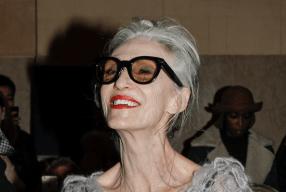 Carmen Front-row Zac Posen grey hair Modepilot