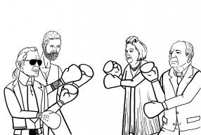 Karl Lagerfeld und Stefano Pilati im Mode-Battle mit Suzy Menkes und Pierre Bergé