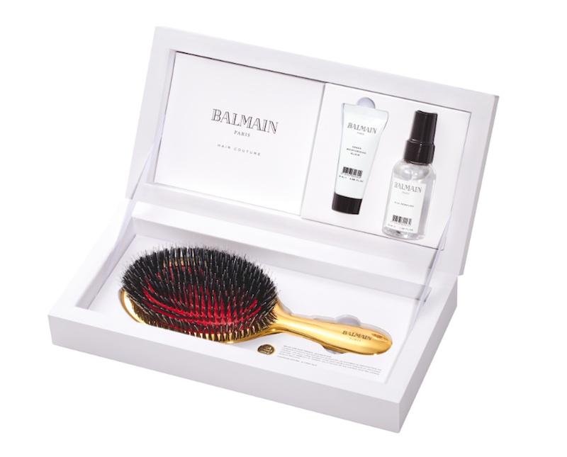 Balmain Goldbürste Haarbürste Gold Modepilot