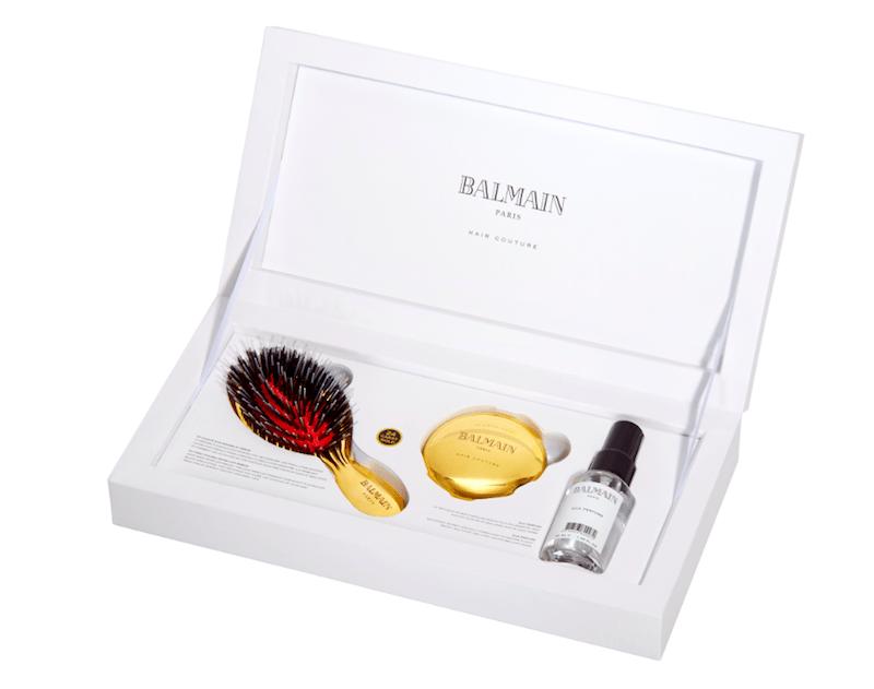 Goldbürste Haarbürste Balmain Set Reisegröße Mini