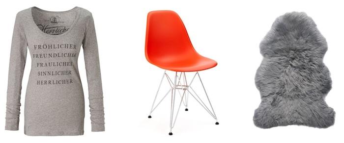 Impressionen Fröhlicher Herrlicher Fraulicher Shirt Stuhl Modepilot
