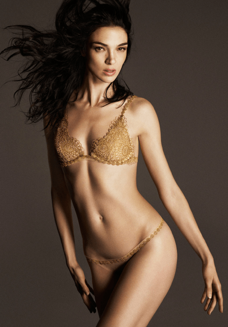 La Perla Gold Lace bra Made to measure Modepilot.com