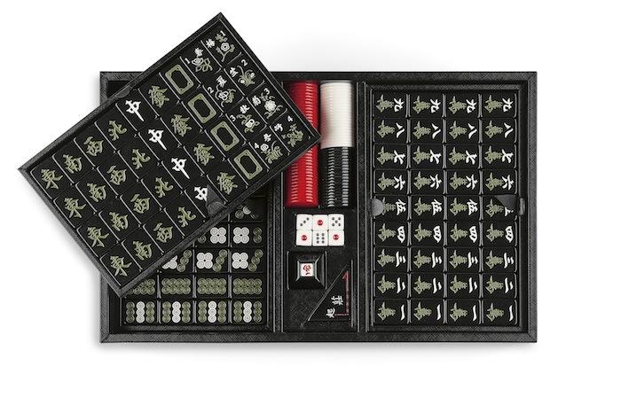 Mahjong Spiel Weihnachtsgeschenk Leder Prada Modepilot