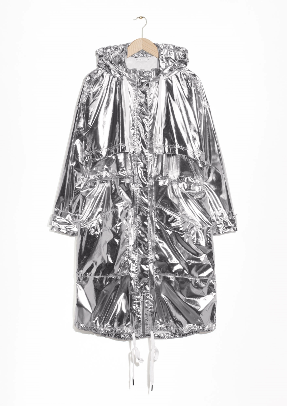 & Other Stories Silver Parka 175 Dollar Modepilot