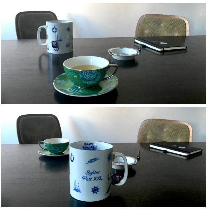Teetassen Mug feines Porzellan Pro Contra Modepilot