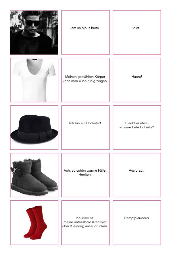 was andere über dien Outfit denken
