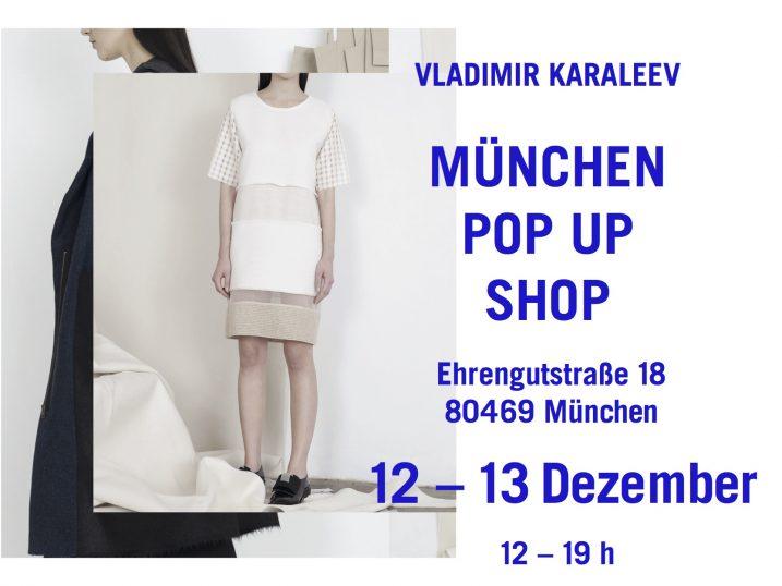 Vladimir Karaleev Store pop up münchen kaufen