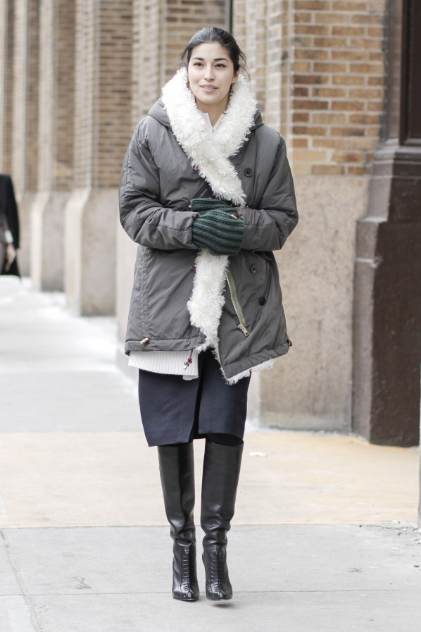 Caroline Issa Streetstyle winter cool