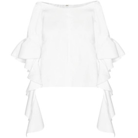 ellery bluse volants off shoulder