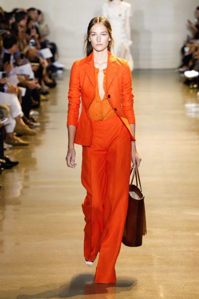 Farbenfroher Office-Look: Anzug in Tangerine von Altuzarra