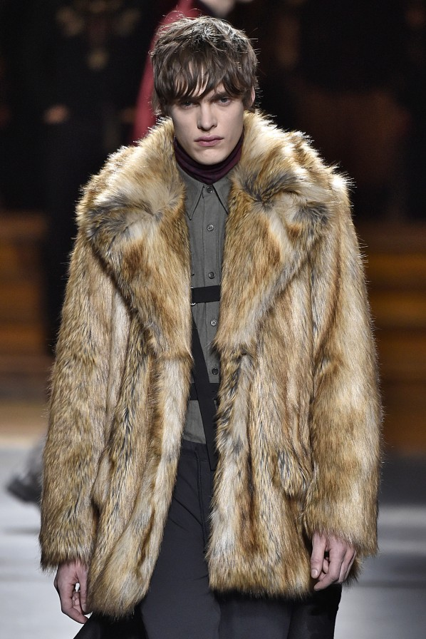Dries van Noten Modepilot Herren Pelz Fake Fur
