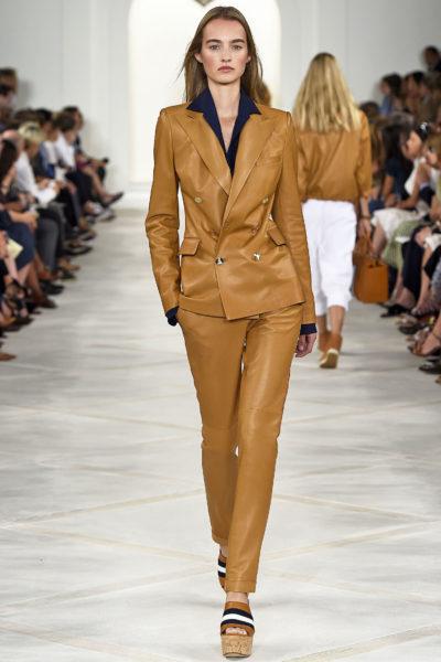 Hier macht das Material den Unterschied: Anzug aus Leder von Ralph Lauren