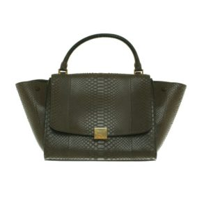 Celine Trapez Bag Tasche gruen second hand Modepilot