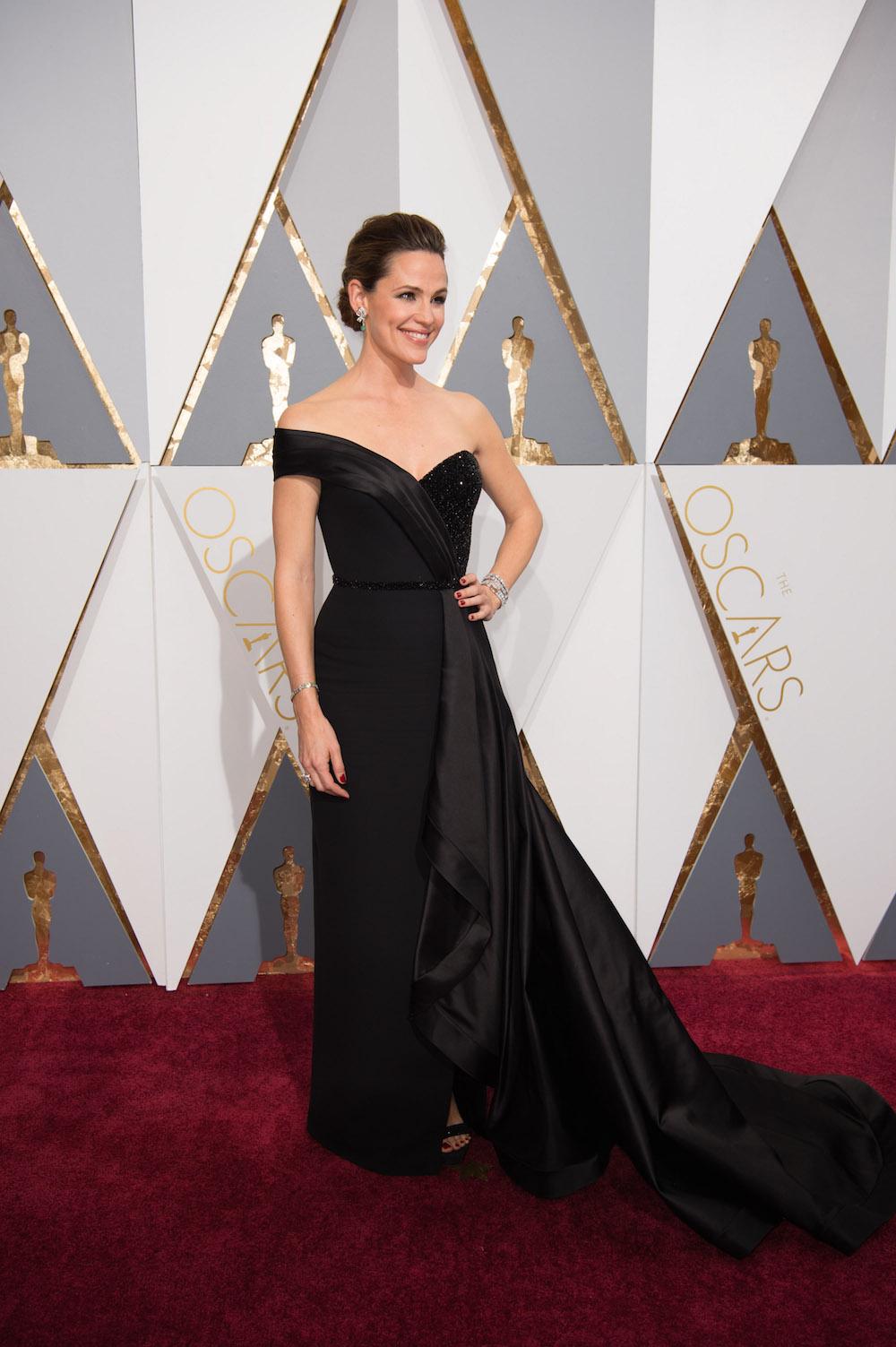 Jennifer Garner oscars dress kleid designer versace modepilot