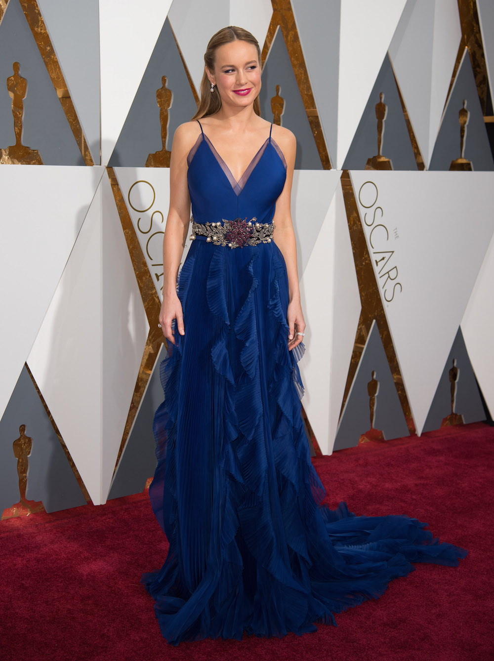 brie larson oscars 2016 dress kleid gucci modepilot