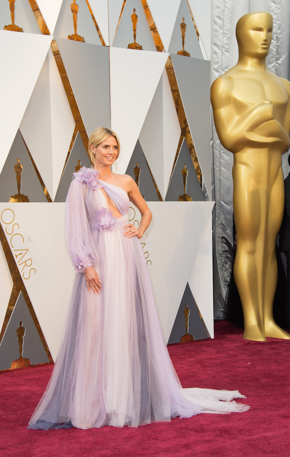 Heidi klum oscars 2016 kleid dress designer marchesa modepilot