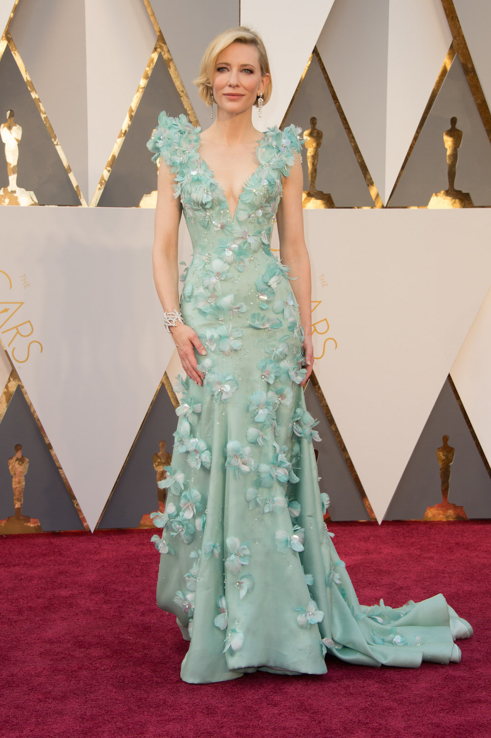 Cate Blanchett oscars 2016 dress kleid Armani Privé modepilot