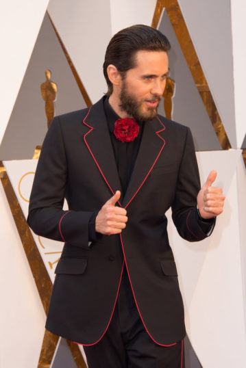 Jared Leto arrives at The 88th Oscars® at the Dolby® Theatre in Hollywood, CA on Sunday, February 28, 2016.