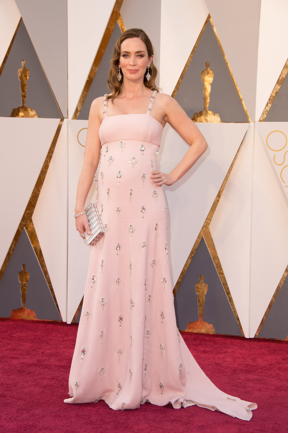 emily Blunt oscars 2016 dress kleid red carpet designer prada modepilot