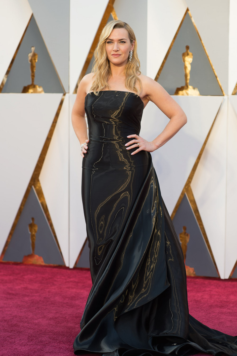 oscars Kate Winslet in Ralph Lauren dress kleid designer ralph lauren modepilot