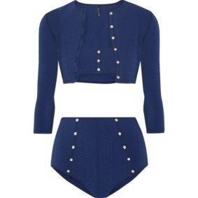 Lisa Marie Fernandez Bikini Blau Cardigan Modepilot 2017