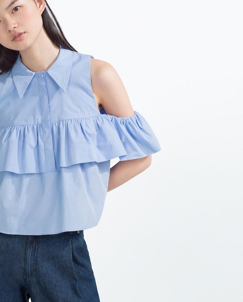 Zara Bluse Volants Shopping-Tipp Modepilot