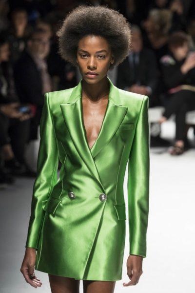 Grünes Blazer-Kleid von Fausto Puglisi für Sommer 2016
