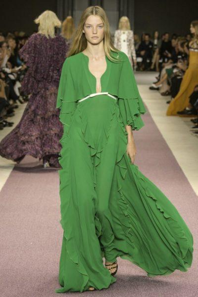 Das Abendkleid von Giambattista Valli in Grün für Sommer 2016