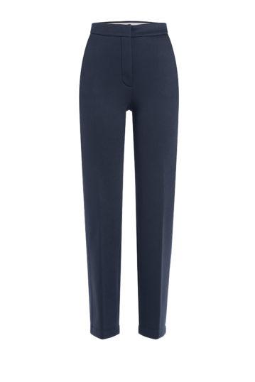 cigarette trousers schmal geshchnittene hose dunkelblau