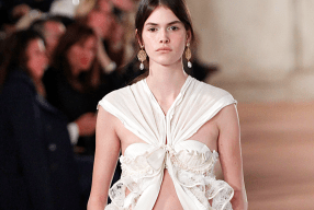 Balenciaga Paris Catwalk Bra Model Runway Modepilot