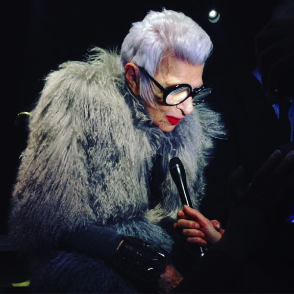 Iris Apfel bei Dries Van Noten