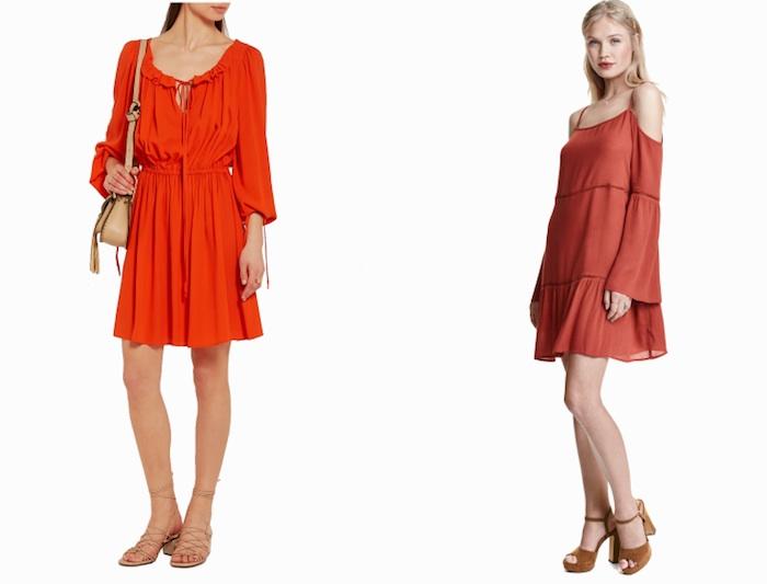 Rotes Sommerkleid Viskose Off-shoulder Modepilot