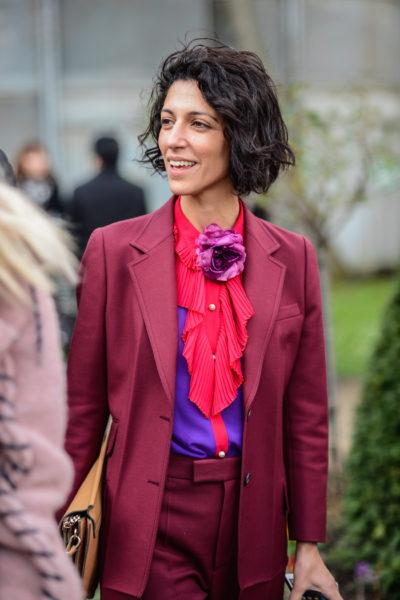 …diese Juwelen-Farben-Kombi mit der Gucci-Bluse steht ihr ausgezeichnet.