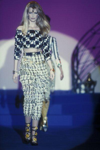 Claudia Schiffer für Gianni Versace, 1992