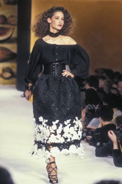 Model Marpessa für Guy Laroche, 1990