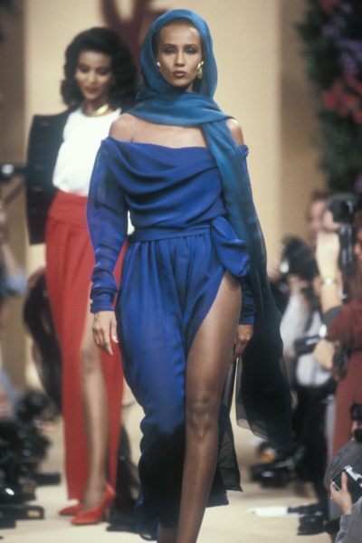 Model Iman für Yves Saint Laurent, 1989