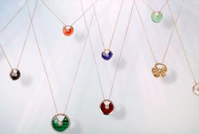 Cartier Amultte Halskette Modepilot Halbedelsteine Talisman