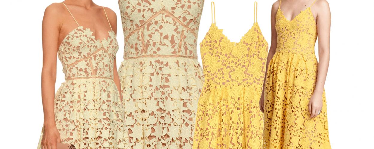 Gelb Spitzenkleid Sommerkleid Spitze Self-Portrait Modepilot