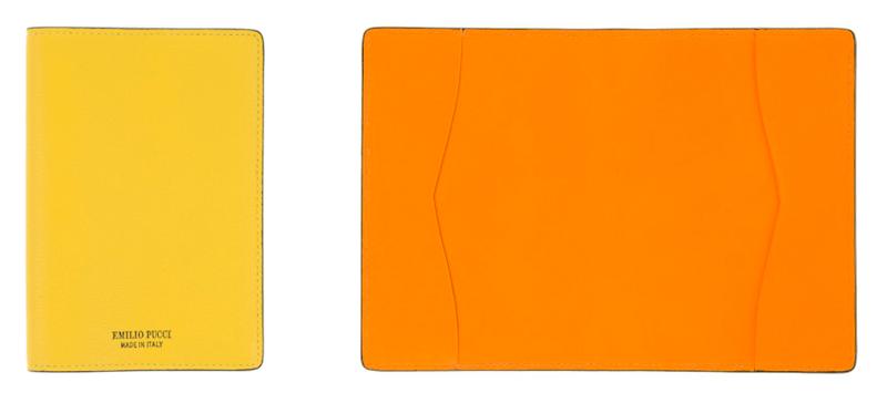 Emilio Pucci Reisepass Etui Pass Modepilot Gelb Orange
