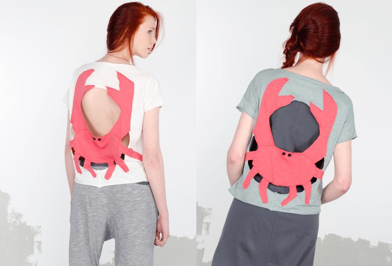 Heel Athens Lab Modepilot Crab Shirt Krabbe Krebs