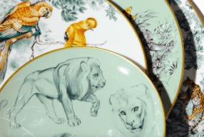 Hermes Geschirr Raubkatzen Wildkatzen Ausstellung Rober Dallet Modepilot